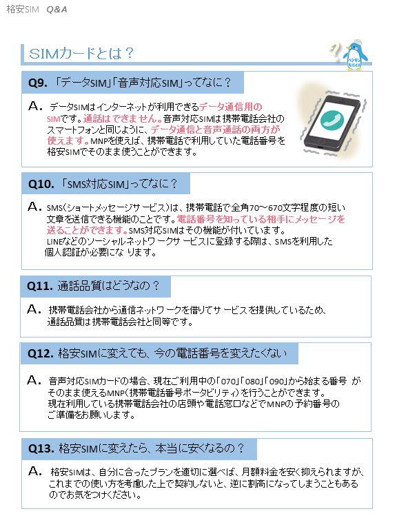 格安SIM Q&A