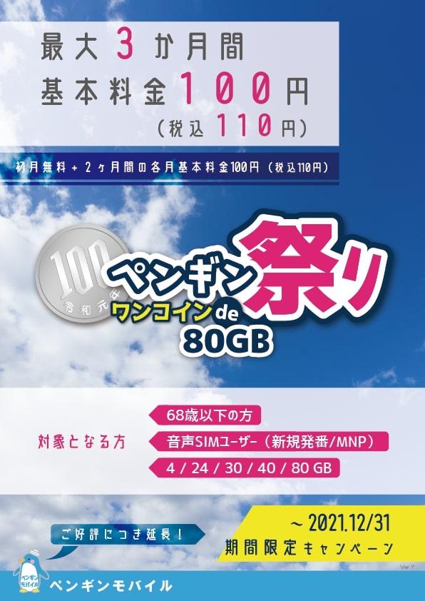 ペ ン ギ ン 祭 り 【ワンコインで80GB】